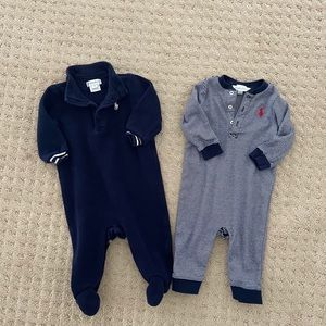 TWO Ralph Lauren Coverall Outfits 6M